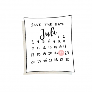 Trouwen doe je zo save the date